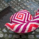 Mes prestations: restauration d'une Chauffeuse recouverte tissu laine géométrique